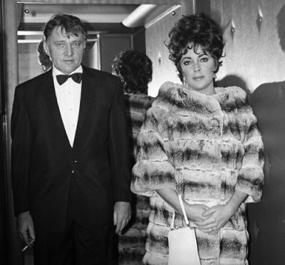 Richard Burton and Elizabeth Taylor during the filming of 'Where Eagles Dare', 1968