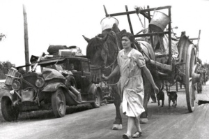 19 July 1940, Refugees escaping France WWII