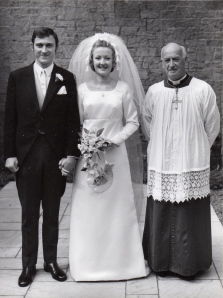 Uncle Douglas and my beautiful late Auntie Rosemary, Wedding Day, 1973