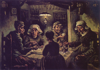'The Potato Eaters', Vincent Van Gogh, 1885