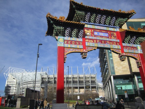 Newcastle United's epic stadium St James's Park near Chinatown
