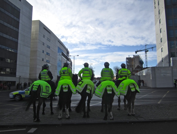 Mounted Police at St James's Park,  Newcastle