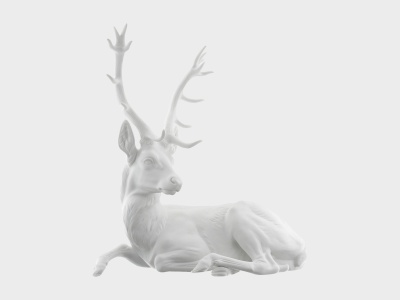'Lying Stag' by Nymphenburg, Germany, Artist's own collection