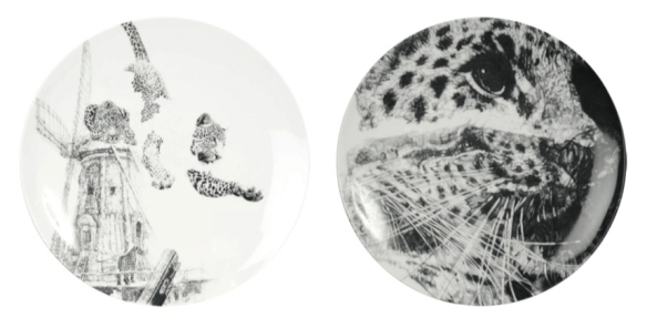 'Our Forefathers' and 'Our Loss', Amur Leopard 'In Homage to the Last Great Carnivores of Eurasia' luxury fine English china plate series