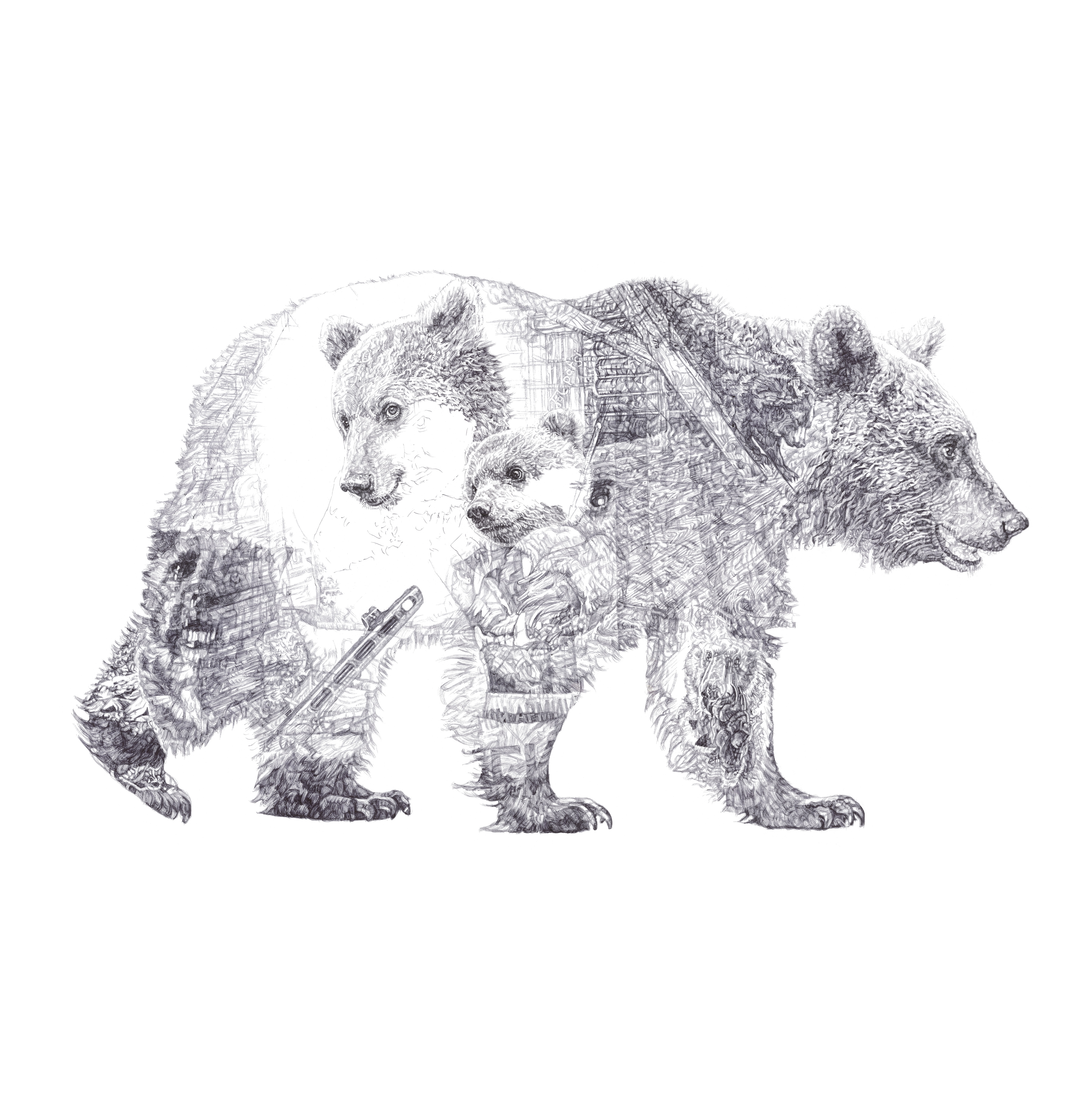 bear cubs jane lee mccracken artist