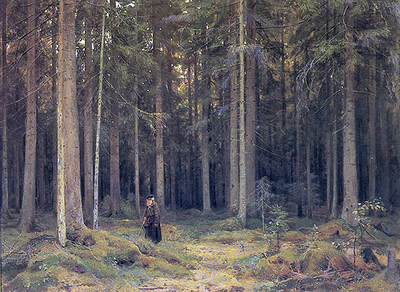 'Countess Mordvinov's Forest (Лес графини Мордвиновой)', Ivan Shishkin, 1891, Tretyakov Gallery, Moscow, Russia