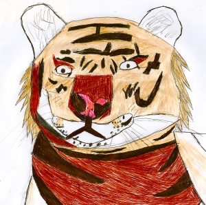 Tiger drawing by Year 6 Student