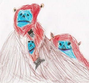 Golden Snub Nose Monkeys by Year 5 Student